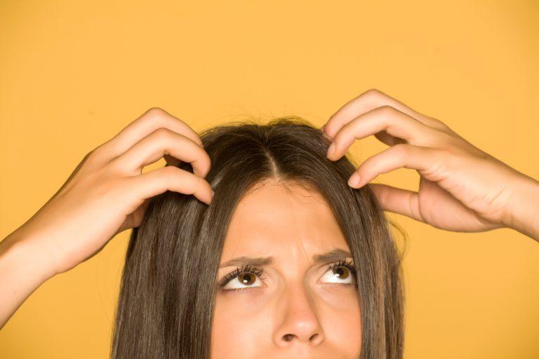 greasy hair